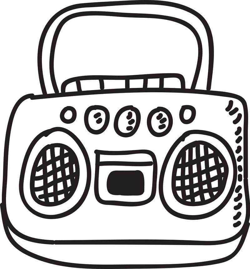 Раскраска Радио 9