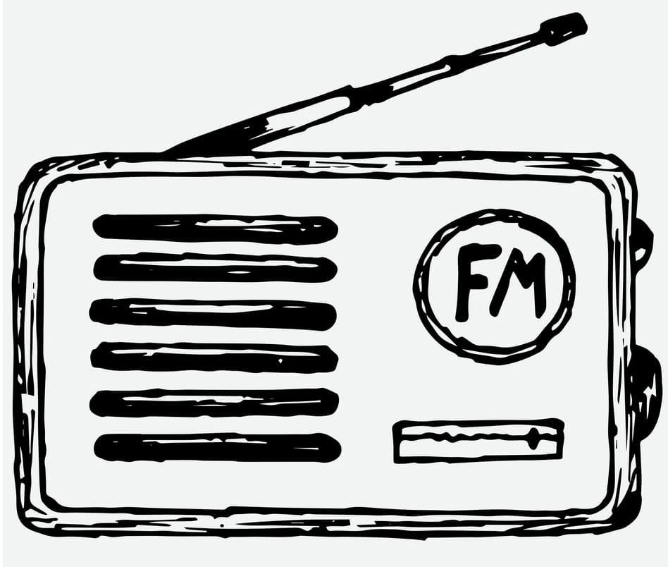 Раскраска Радио
