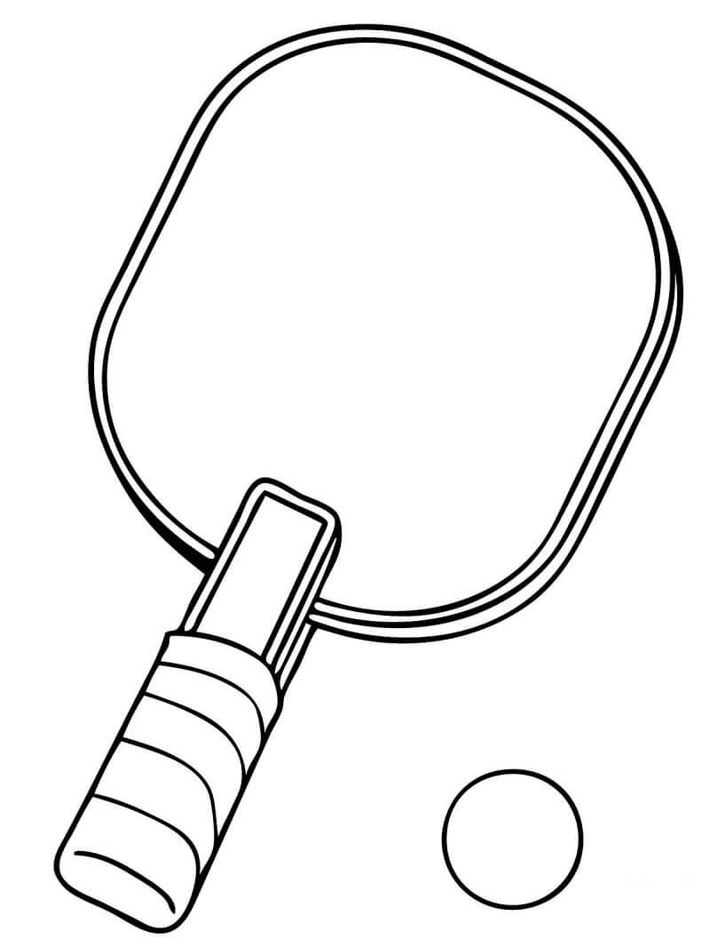Раскраска ракетка для настольного тенниса
