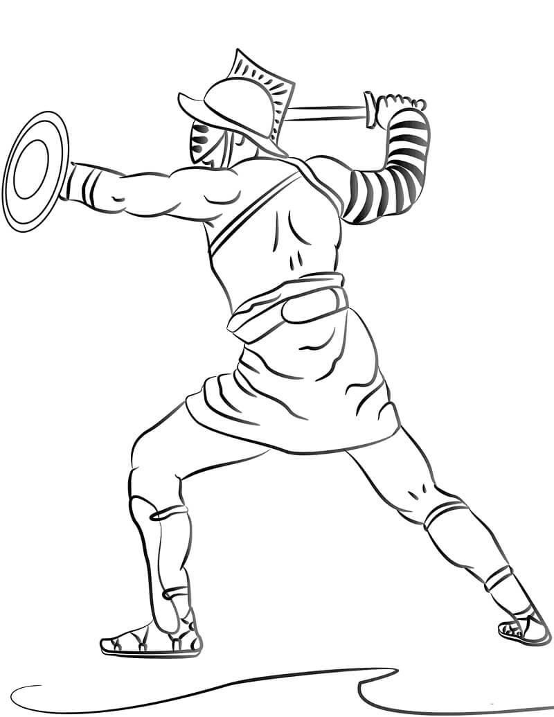 Раскраска Римский гладиатор