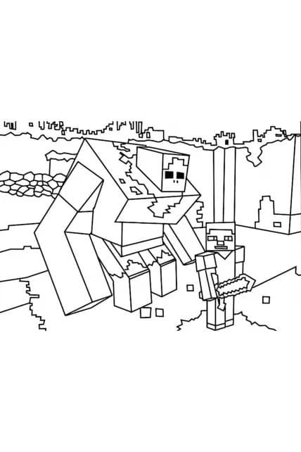 Раскраска Робот и Стив
