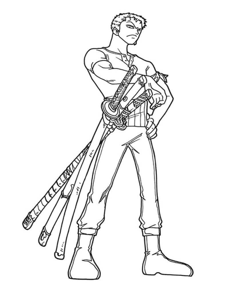 Раскраска ророноа зоро 5