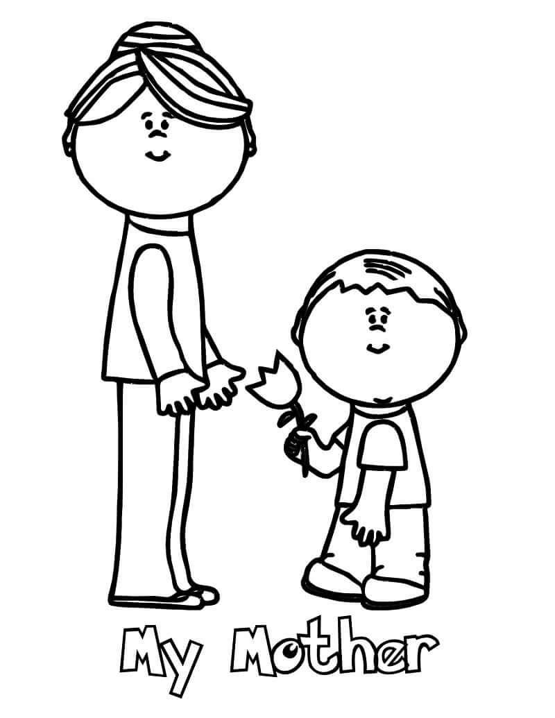 Раскраска С Днем матери 5