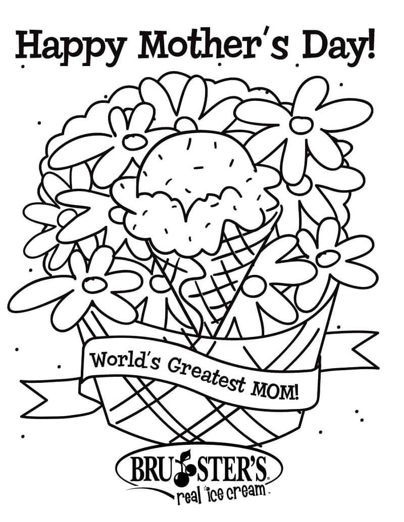 Раскраска С Днем матери 7