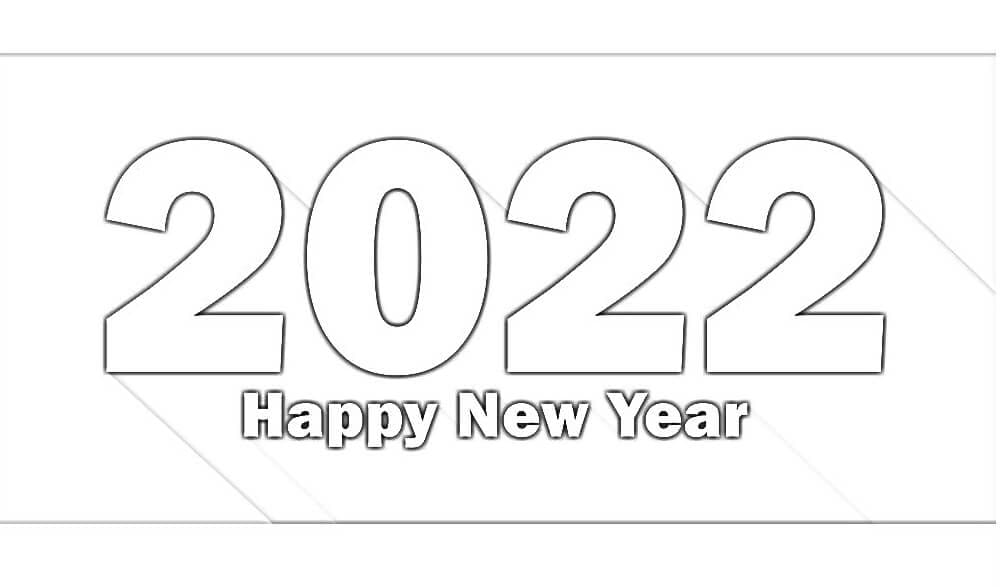 Раскраска С Новым годом 2022 10