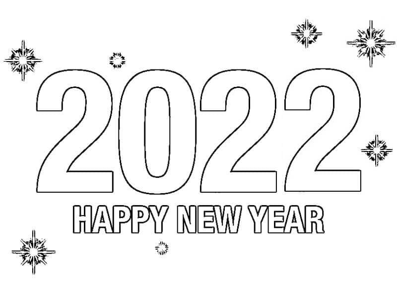 Раскраска С Новым годом 2022 14