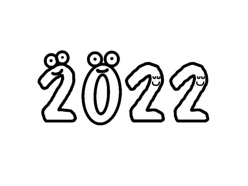 Раскраска Раскраски новый год 2022