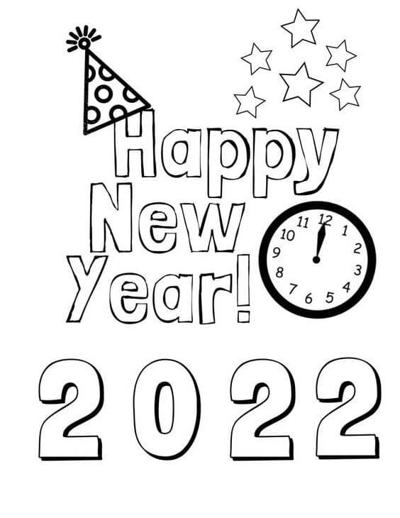 Раскраска С Новым годом 2022 18