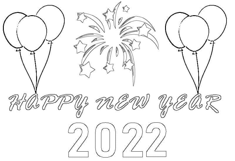 Раскраска С Новым годом 2022 5