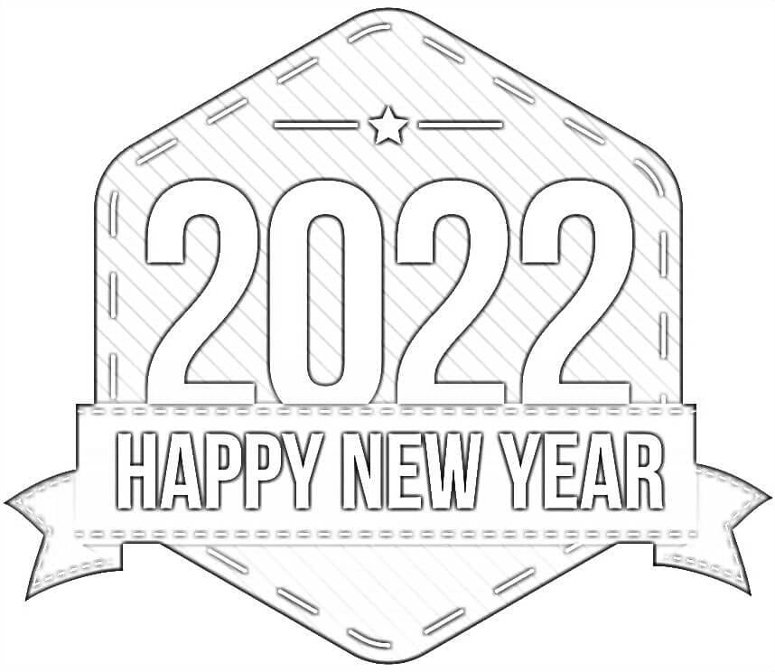 Раскраска С Новым годом 2022 6