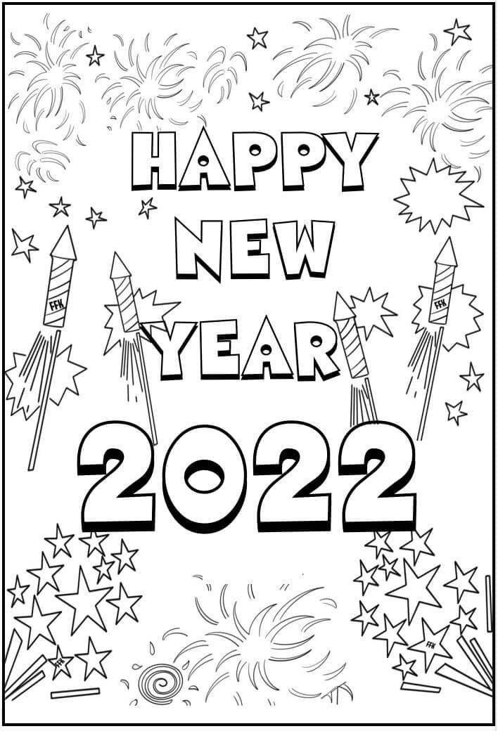 Раскраска С Новым годом 2022 9