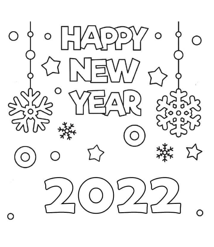 Раскраска С Новым годом 2022