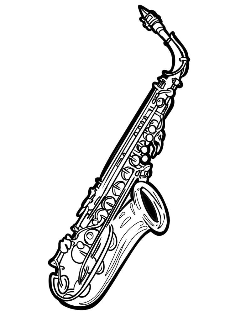 Раскраска Саксофон 1