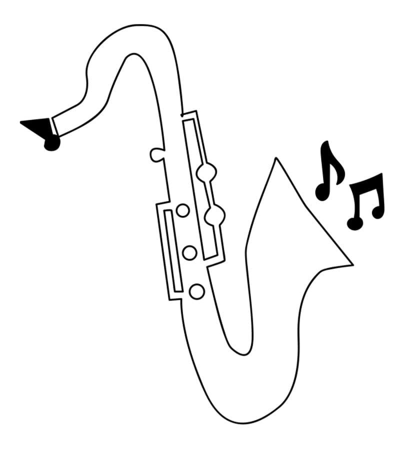 Раскраска Саксофон 11