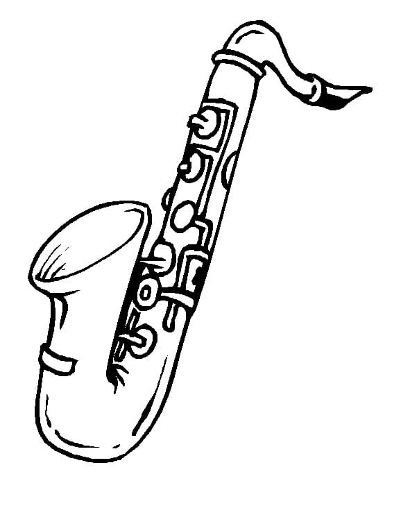 Раскраска Саксофон 12