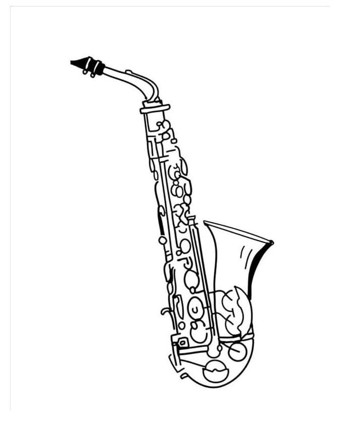 Раскраска Саксофон 4