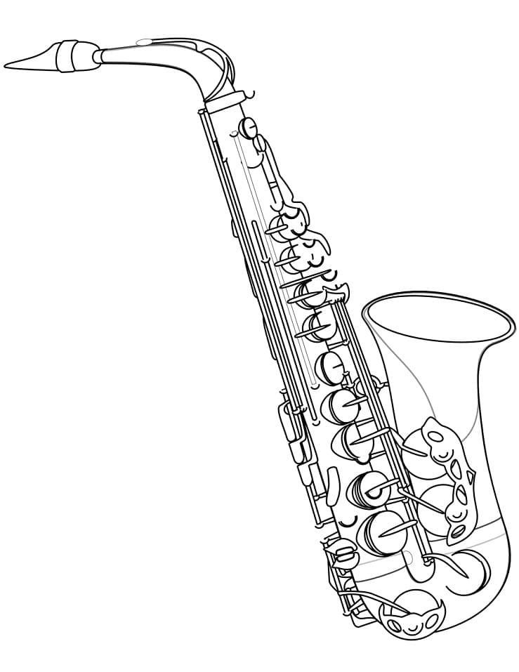 Раскраска Саксофон 6