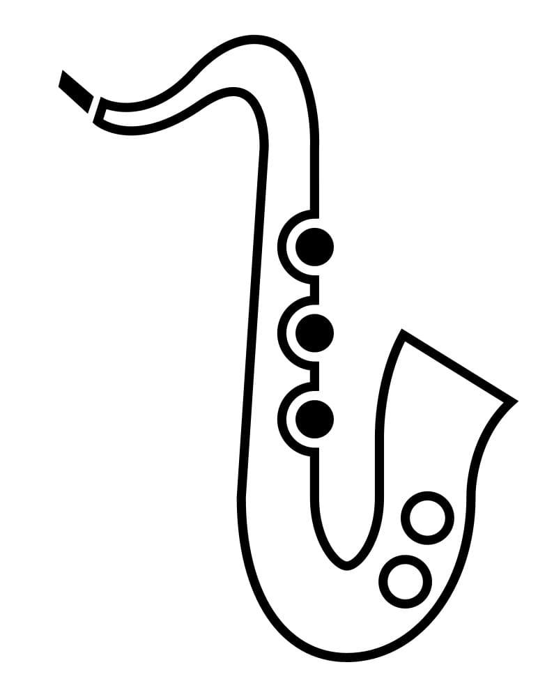 Раскраска Саксофон 8