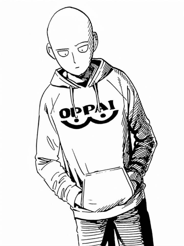 Раскраска Сайтама 3