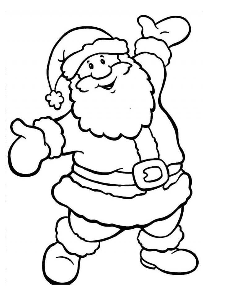 Раскраска Раскраски Дед Мороз