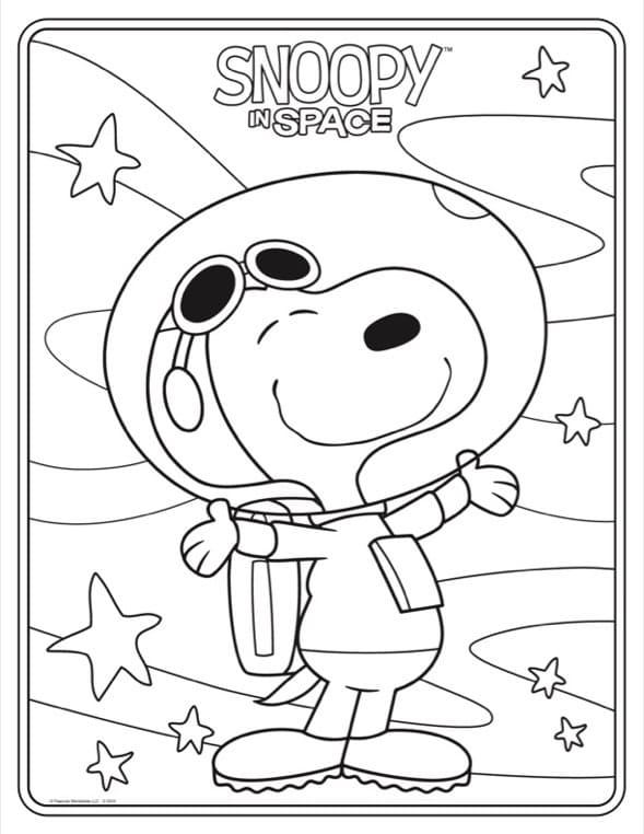 Раскраска Счастливый снупи 1
