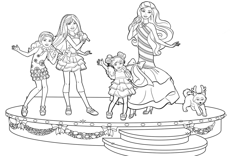 Раскраска Семья Барби
