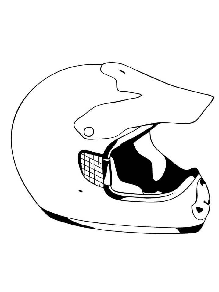 Раскраска Шлем для веломотокросса
