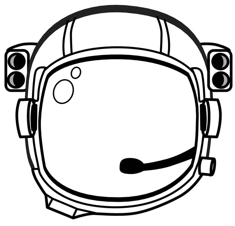Раскраска Шлем космонавта