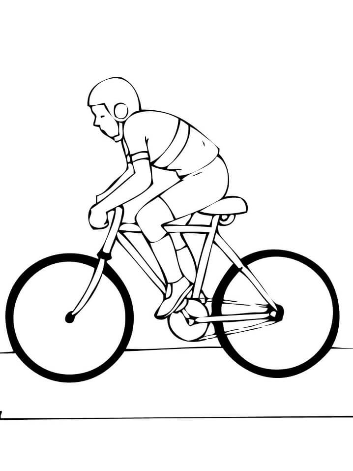 Раскраска Шоссейный велосипед 1