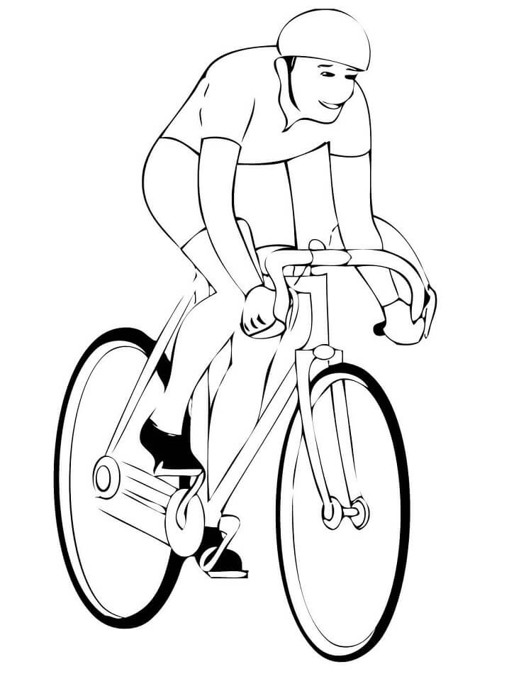 Раскраска Шоссейный велосипед