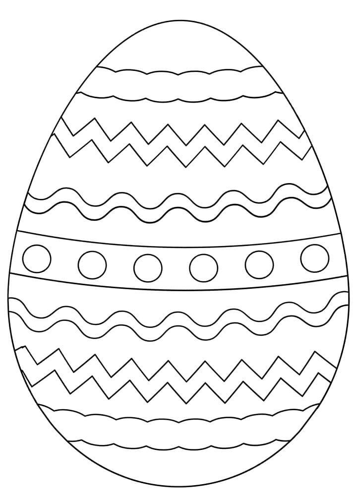 Раскраска симпатичное пасхальное яйцо 1