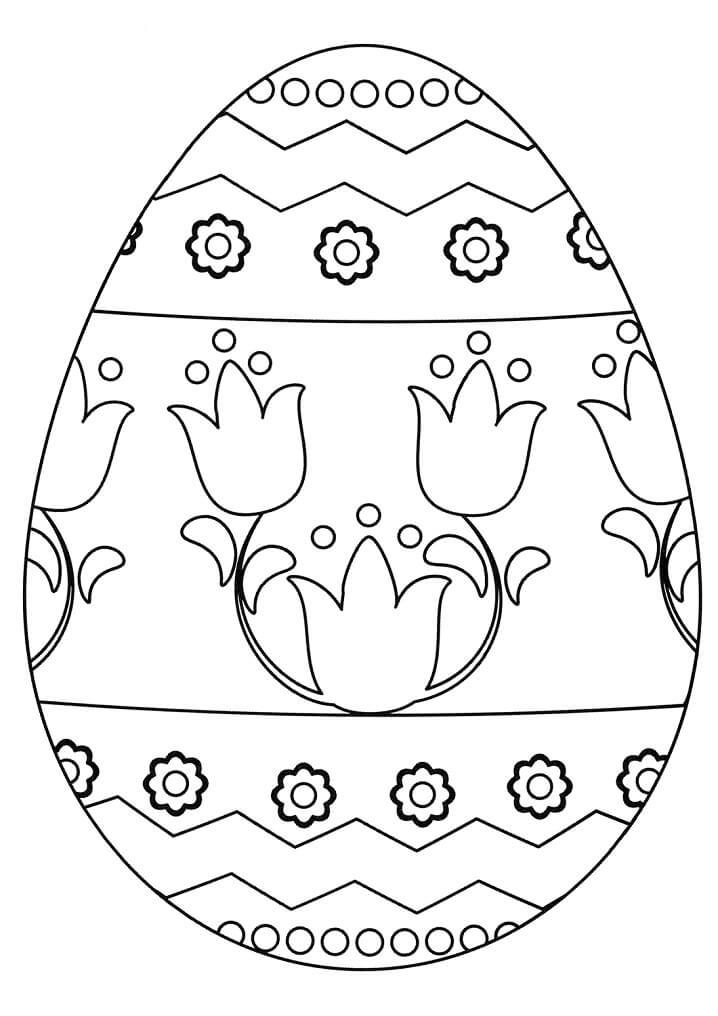 Раскраска симпатичное пасхальное яйцо 2