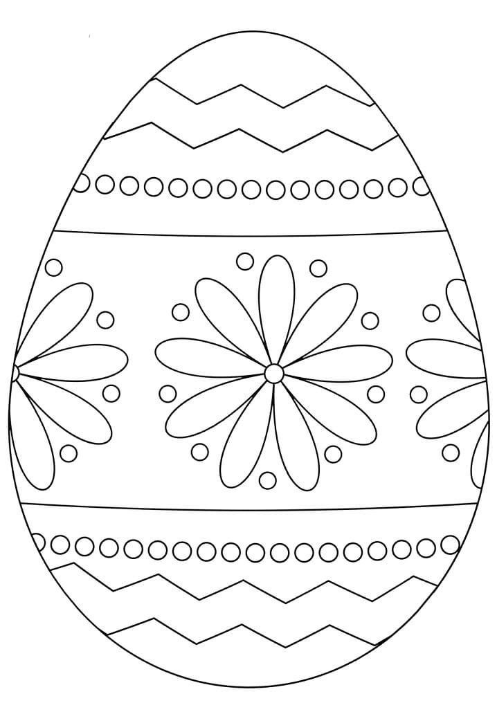 Раскраска симпатичное пасхальное яйцо 3