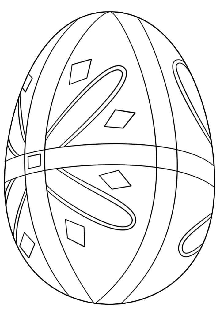 Раскраска симпатичное пасхальное яйцо 4