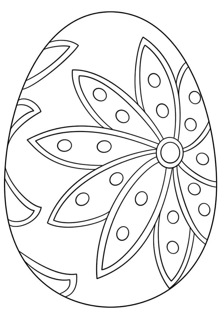 Раскраска симпатичное пасхальное яйцо 6