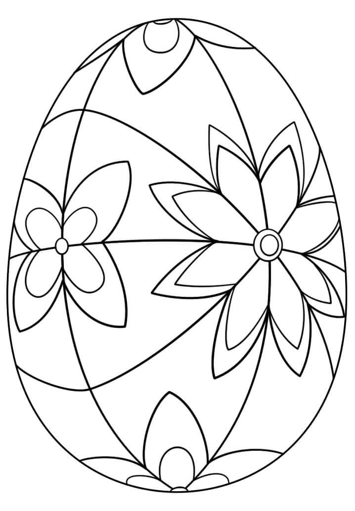 Раскраска симпатичное пасхальное яйцо 8