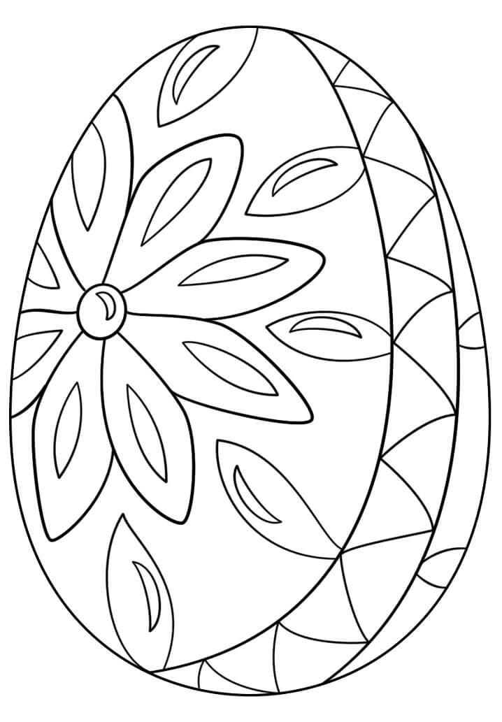 Раскраска симпатичное пасхальное яйцо 9