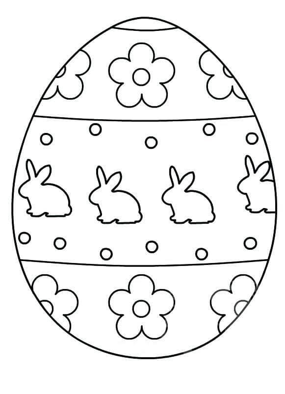 Раскраска симпатичное пасхальное яйцо