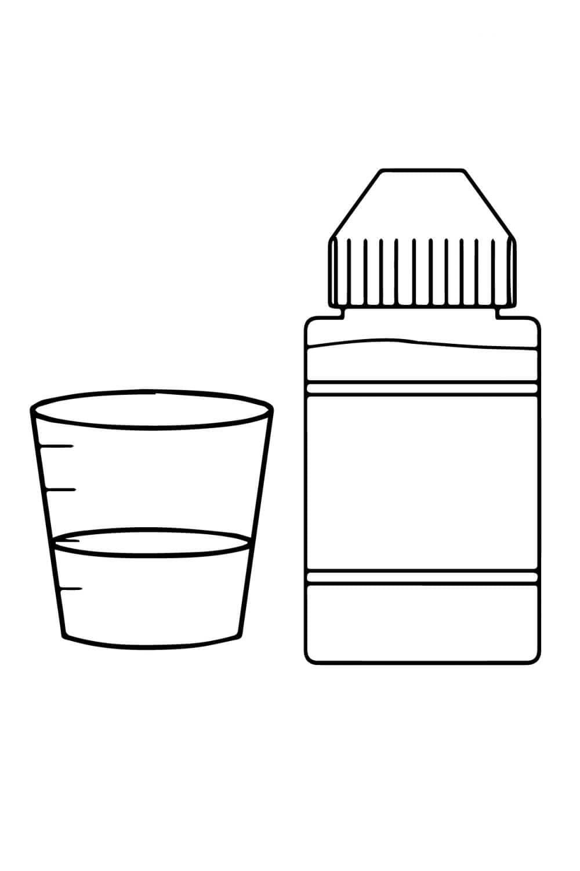 Раскраска Сироп от кашля