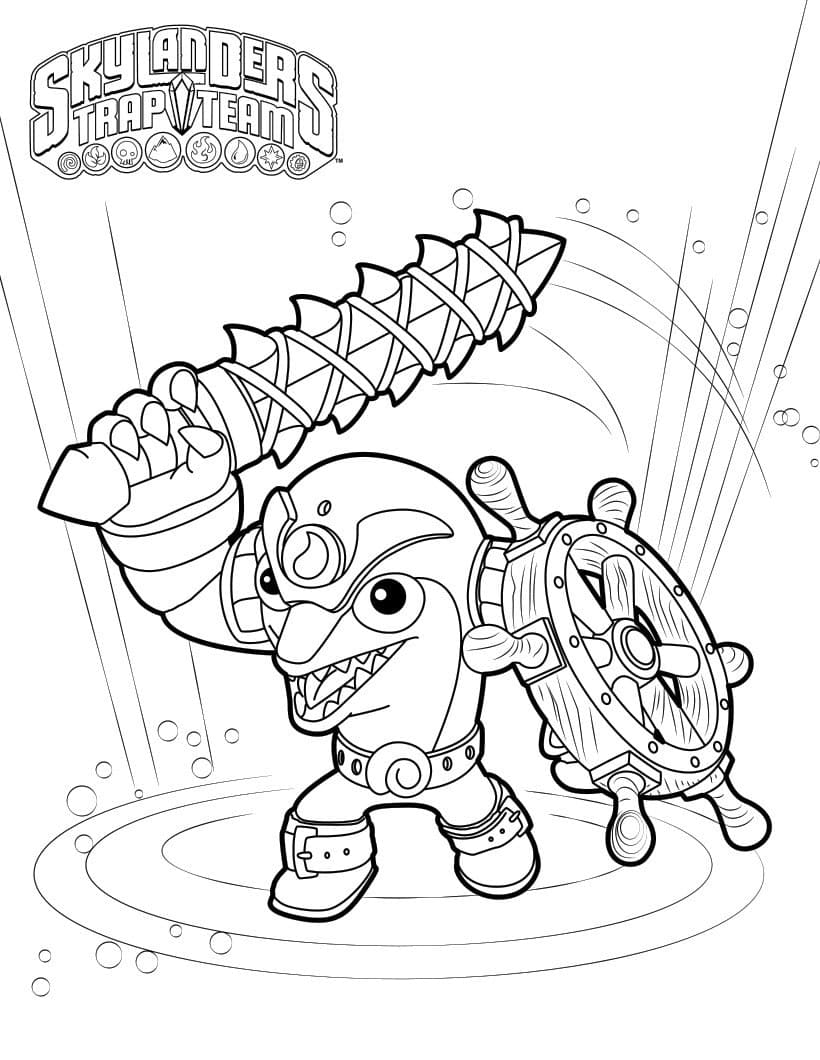 Раскраска Скайлендеры 10