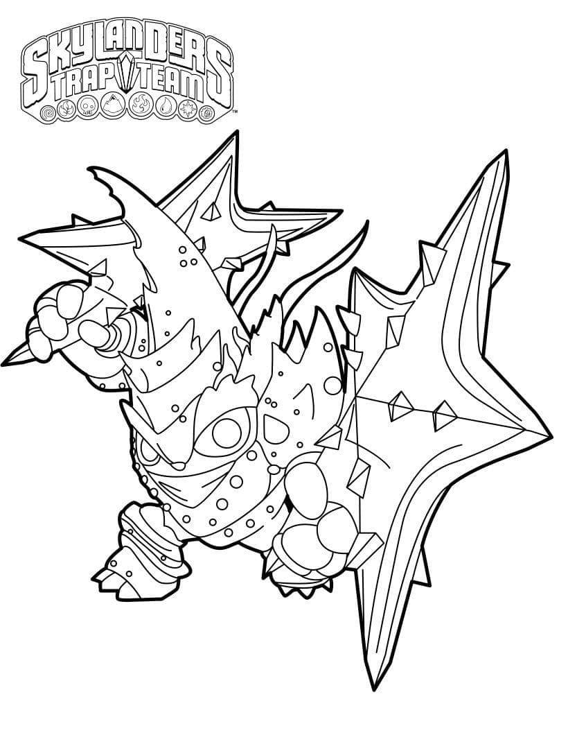 Раскраска Скайлендеры 13