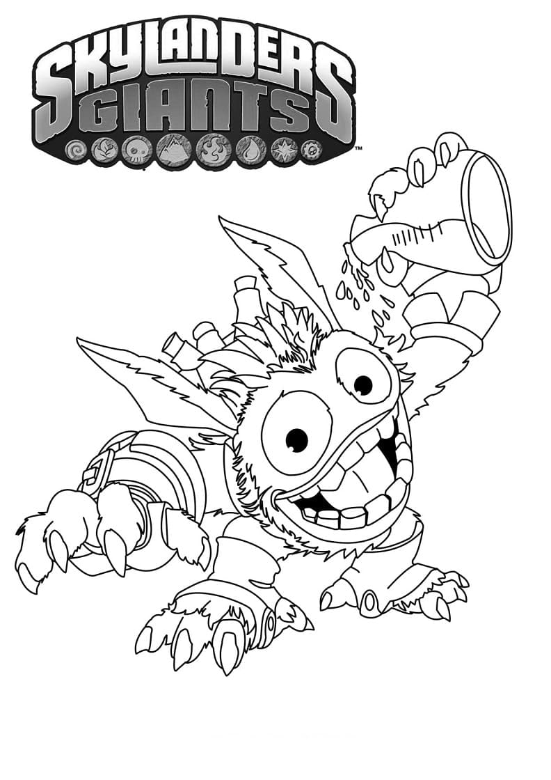 Раскраска Скайлендеры 14