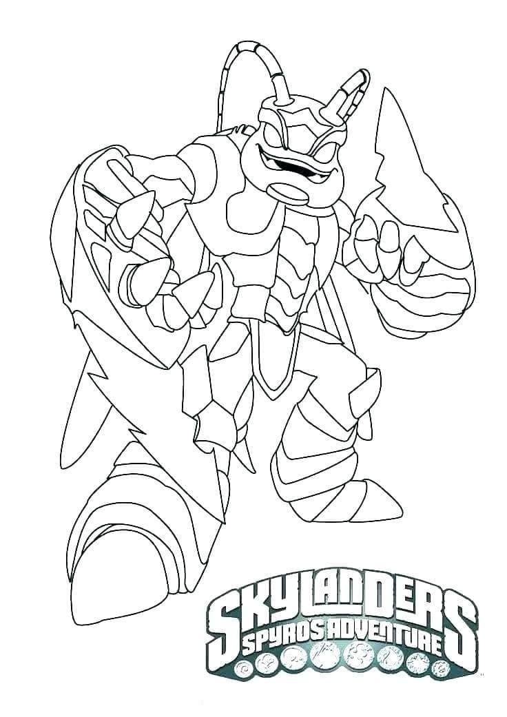 Раскраска Скайлендеры 7