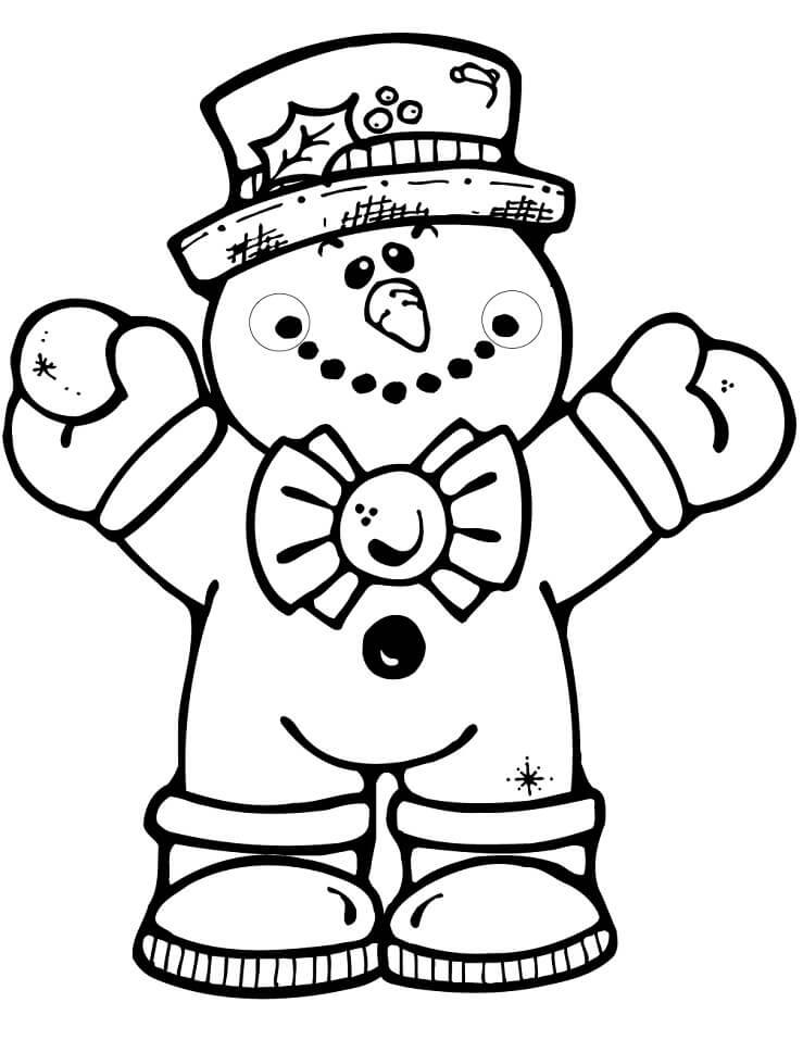Раскраска Снеговик 2