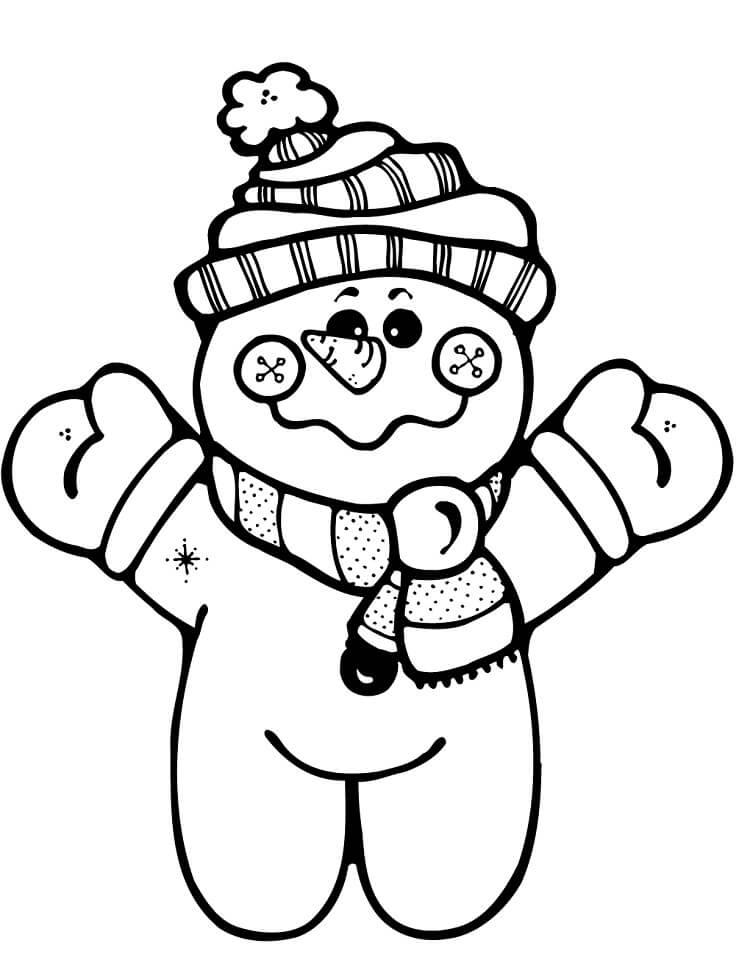 Раскраска Снеговик 3