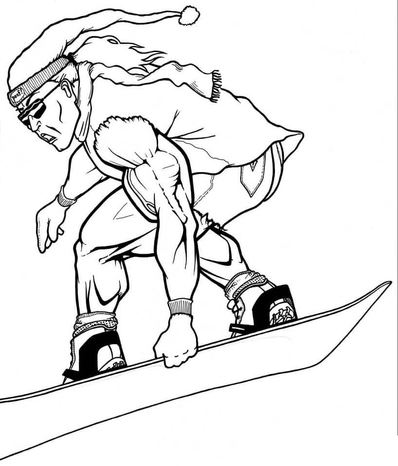 Раскраска Сноубордист