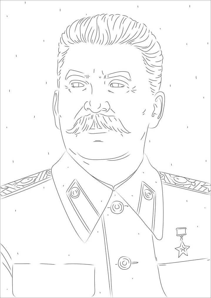 Раскраска Сталин