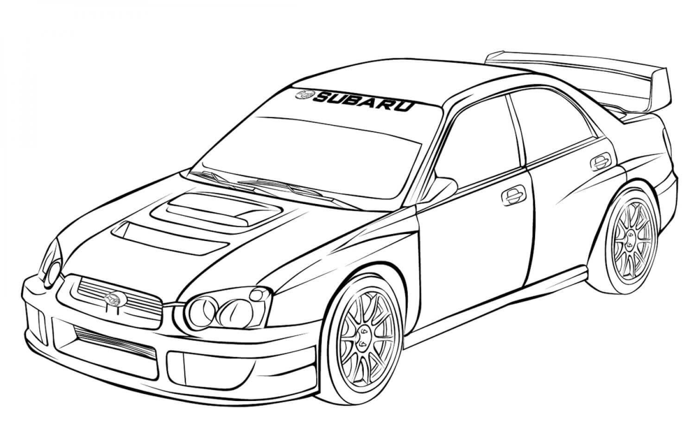 Раскраска Subaru