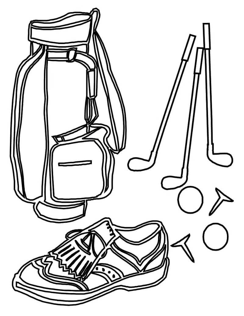 Раскраска Сумка для гольфа 1