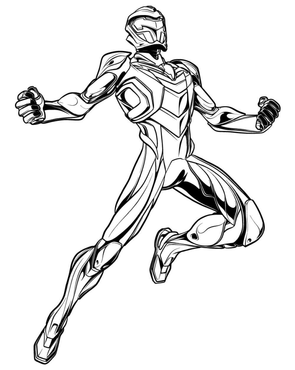 Раскраска Супергерой Макс Стил